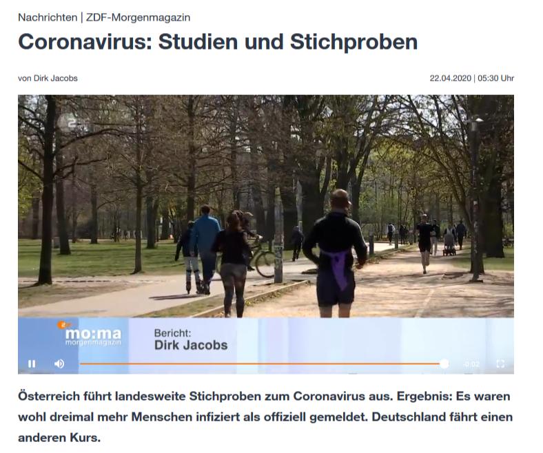 Reportage ZDF-Morgenmagazin